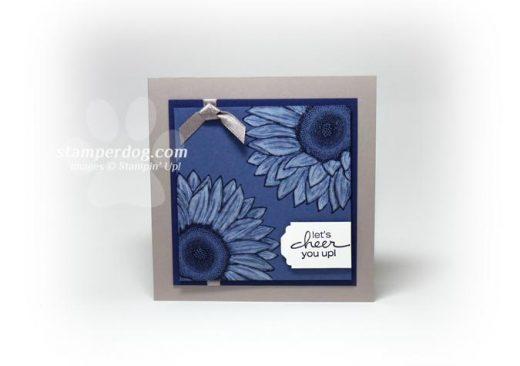 Blue Sunflower Card