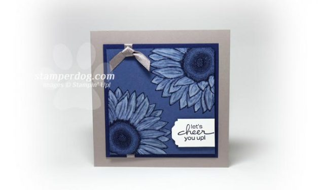 Great Little Blue Sunflower Card