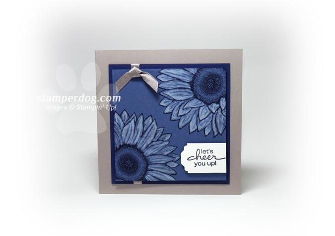 Great Little Blue Sunflower Card