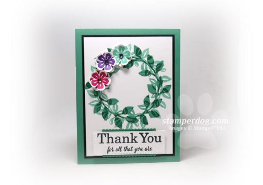 Thank You Card with a Wreath