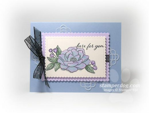 Iridescent Watercolor Rose Card