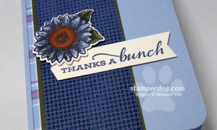 Blue Sunflower Thank You Card