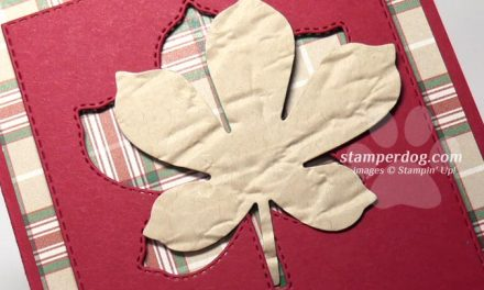 Plaid Leaf Card