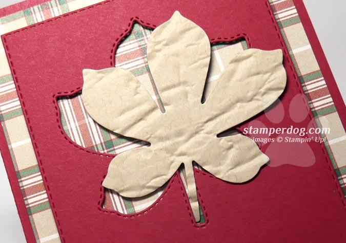 Plaid Leaf Card