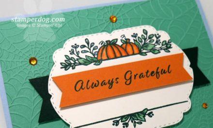 Making a Grateful Pumpkin Card