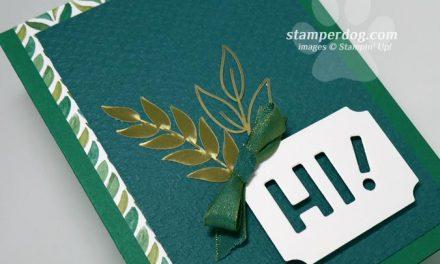 Leafy Hello Card