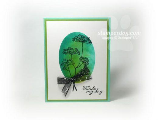 Sponged Oval Card
