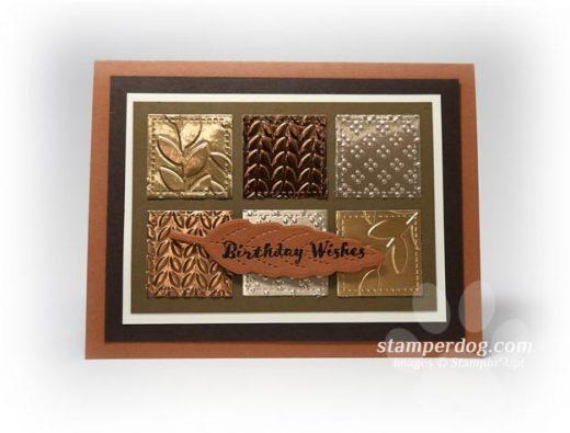 Metallic Masculine Card