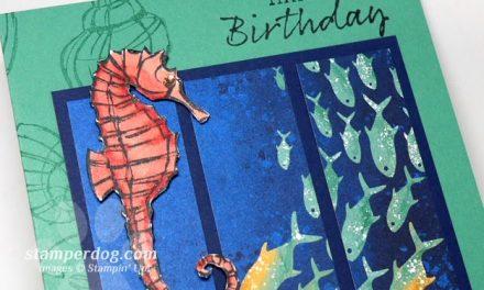 Making a Seahorse Card