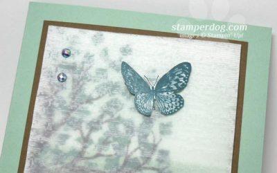 Textured Vellum Scenery Card