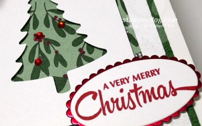 Making a Christmas Tree Card