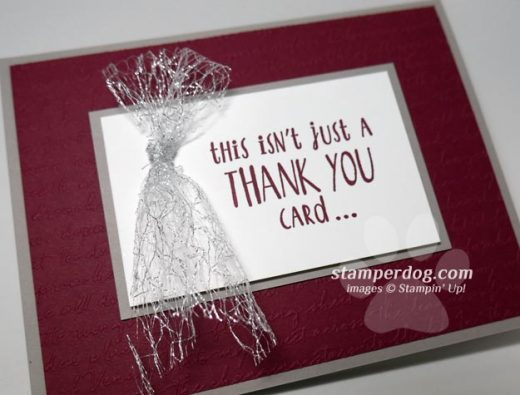 Sparkly Quick Thank You Card