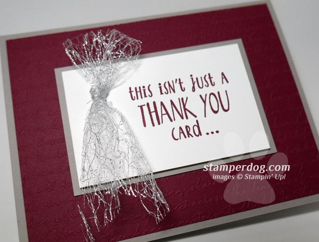 Making a Sparkly Quick Thank You Card
