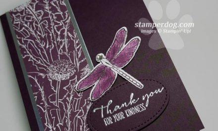 Sneak Peek Dragonfly Card