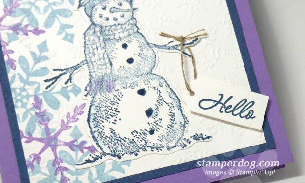 Hello Snowman Card
