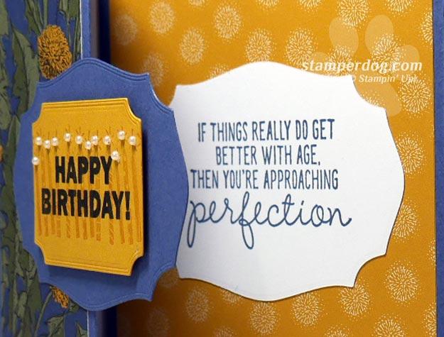 Z-Fold Birthday Card