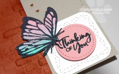 Beautiful Butterfly Thinking of You Card