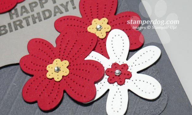 Making a Flowery Birthday Card