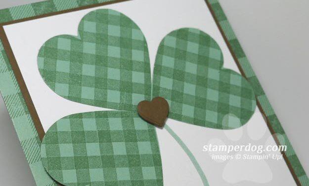 Making a Four Leaf Clover Card