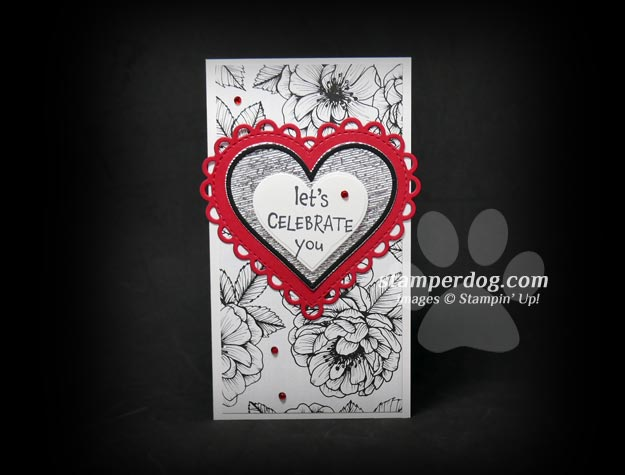 Tall and Thin Heart Card
