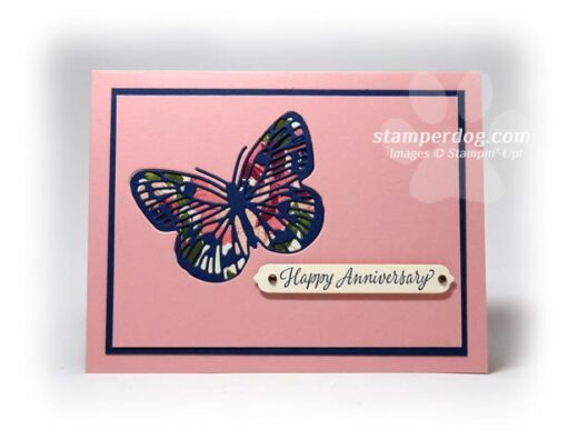 Inlaid Butterfly Card