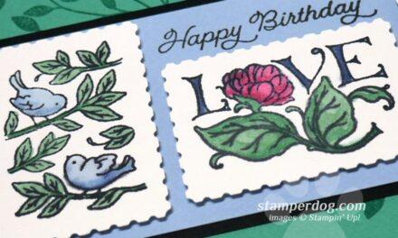 Postage Stamp Birthday Card
