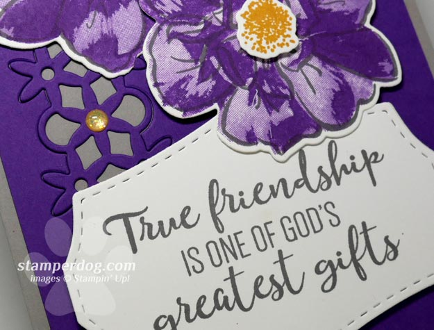 Making a Purple Card for a Friend