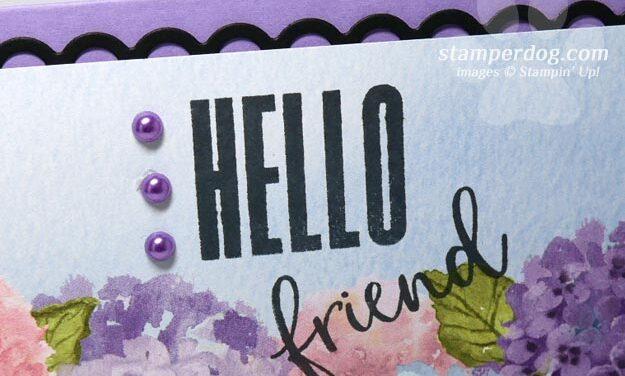 Hydrangea Card for a Friend