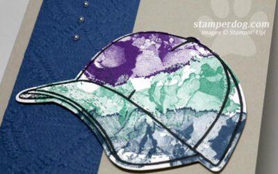 Making a Fun Tie Dye Hat Card