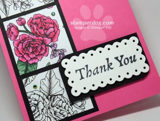 Quick Pink Thank You Card