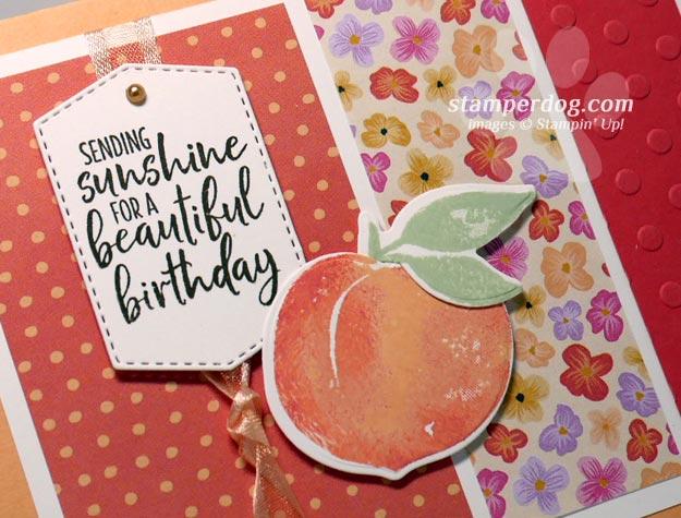 Adding a Peach to Our Sunny Birthday Card