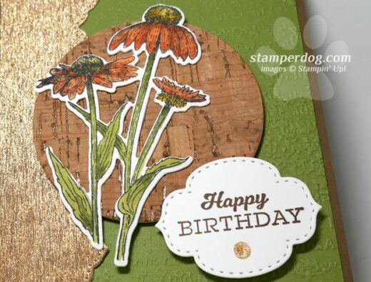 Birthday card from scraps
