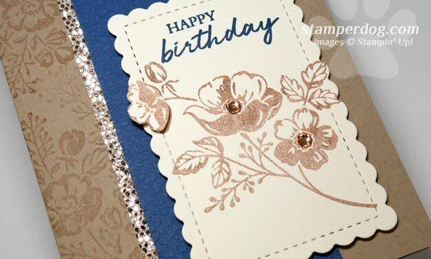 Misty Moonlight Birthday Card with New Stuff!