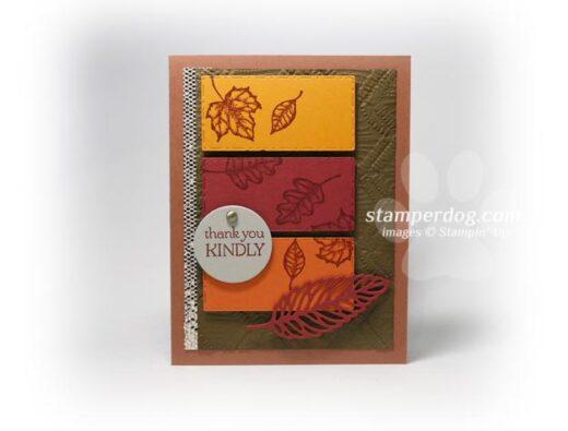 Leafy Color Block Card