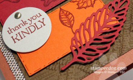 Make a Leafy Color Block Card