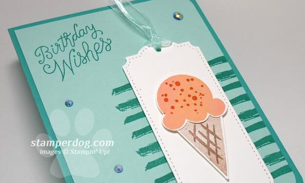 Making a Fun Ice Cream Birthday Card