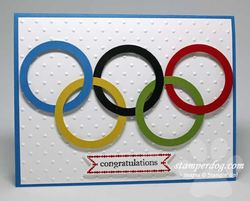 2012 Olympic Rings Card
