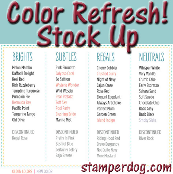 Colors That Start With F >> Color Refresh Starts Today Stampin Up Demonstrator Ann M